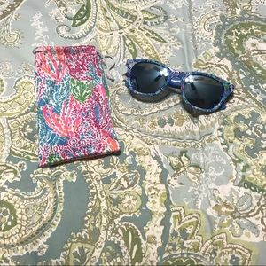 Lilly Pulitzer Madeline mirrored sunglasses
